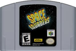 Cartridge artwork for Space Invaders on the Nintendo N64.