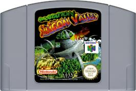 Cartridge artwork for Space Station Silicon Valley on the Nintendo N64.