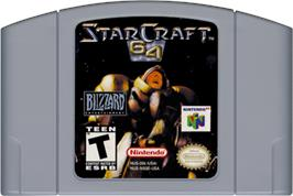 Cartridge artwork for StarCraft 64 on the Nintendo N64.