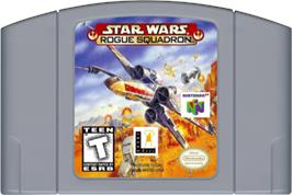 Cartridge artwork for Star Wars: Rogue Squadron on the Nintendo N64.