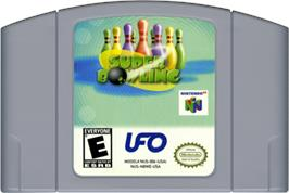Cartridge artwork for Super Bowling on the Nintendo N64.