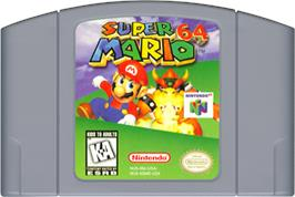 Cartridge artwork for Super Mario 64: Shindou Edition on the Nintendo N64.
