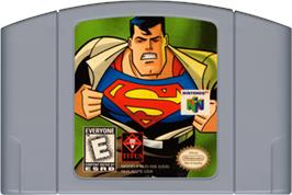 Cartridge artwork for Superman on the Nintendo N64.