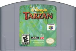 Cartridge artwork for Tarzan on the Nintendo N64.