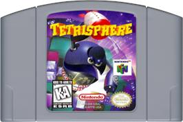 Cartridge artwork for Tetrisphere on the Nintendo N64.