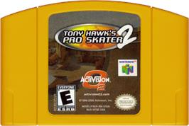 Cartridge artwork for Tony Hawk's Pro Skater 2 on the Nintendo N64.