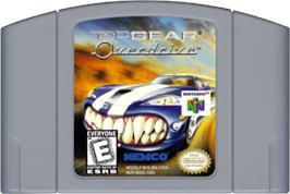 Cartridge artwork for Top Gear Overdrive on the Nintendo N64.