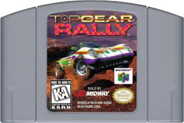 Cartridge artwork for Top Gear Rally on the Nintendo N64.