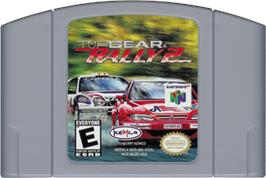 Cartridge artwork for Top Gear Rally 2 on the Nintendo N64.