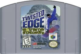 Cartridge artwork for Twisted Edge: Extreme Snowboarding on the Nintendo N64.