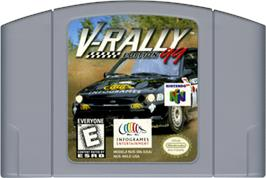 Cartridge artwork for V-Rally Edition 99 on the Nintendo N64.