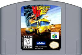 Cartridge artwork for Vigilante 8: 2nd Offense on the Nintendo N64.