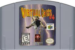 Cartridge artwork for Virtual Chess 64 on the Nintendo N64.