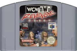 Cartridge artwork for WCW/NWO Revenge on the Nintendo N64.