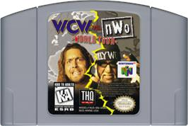 Cartridge artwork for WCW vs. NWO: World Tour on the Nintendo N64.