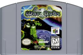Cartridge artwork for War Gods on the Nintendo N64.