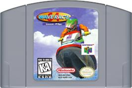 Cartridge artwork for Wave Race 64: Shindou Edition on the Nintendo N64.