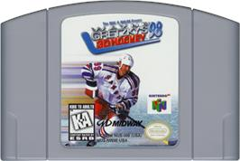 Cartridge artwork for Wayne Gretzky's 3D Hockey '98 on the Nintendo N64.