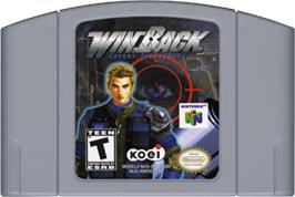 Cartridge artwork for WinBack: Covert Operations on the Nintendo N64.