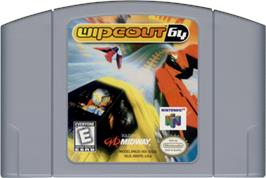 Cartridge artwork for Wipeout 64 on the Nintendo N64.