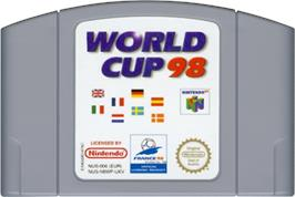 Cartridge artwork for World Cup 98 on the Nintendo N64.