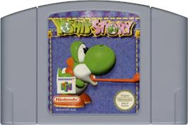 Cartridge artwork for Yoshi's Story on the Nintendo N64.