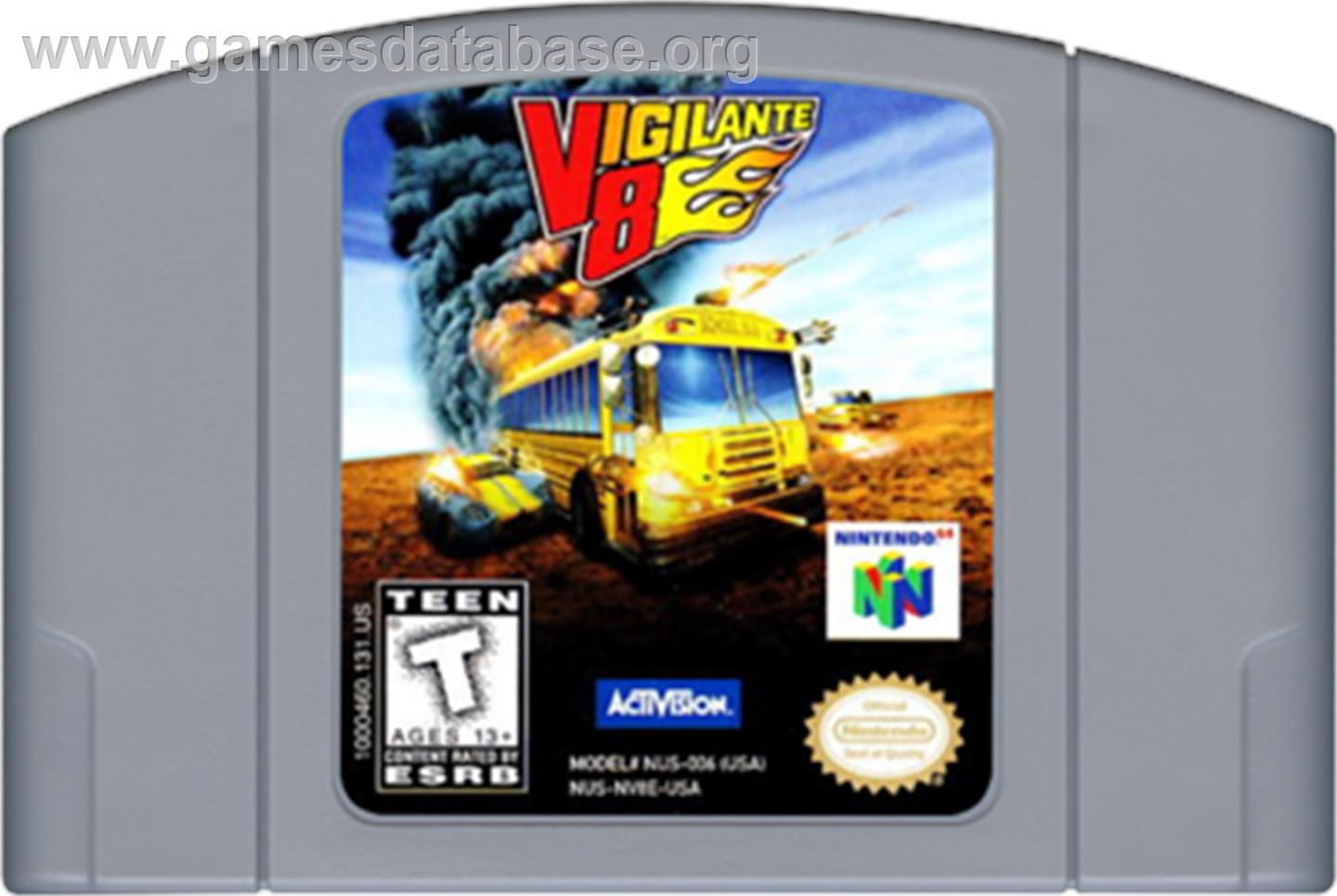 Vigilante 8: 2nd Offense - Nintendo N64 - Artwork - Cartridge