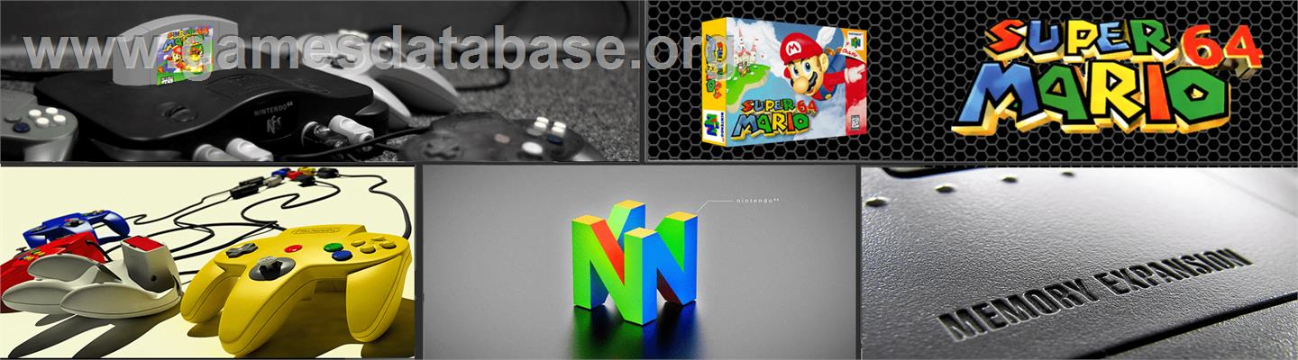 Super Mario 64 - Nintendo N64 - Artwork - Marquee