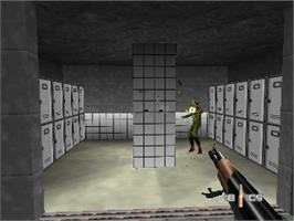 In game image of 007: Golden Eye on the Nintendo N64.