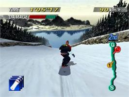 In game image of 1080° Snowboarding on the Nintendo N64.