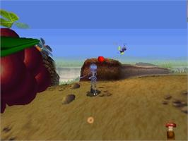 In game image of A Bug's Life on the Nintendo N64.