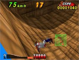 In game image of Air Boarder 64 on the Nintendo N64.
