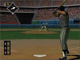 In game image of All-Star Baseball '99 on the Nintendo N64.