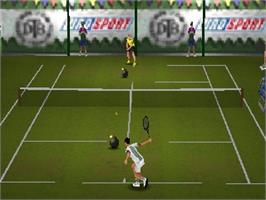 In game image of All Star Tennis '99 on the Nintendo N64.