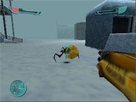 In game image of Armorines: Project S.W.A.R.M. on the Nintendo N64.