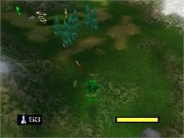 In game image of Army Men: Air Combat on the Nintendo N64.