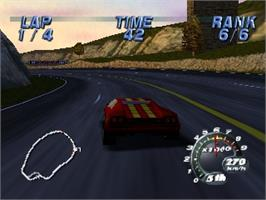 In game image of Automobili Lamborghini: Super Speed Race 64 on the Nintendo N64.