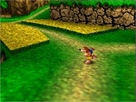 In game image of Banjo-Kazooie on the Nintendo N64.