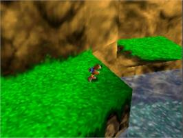 In game image of Banjo to Kazooie no Daibouken on the Nintendo N64.