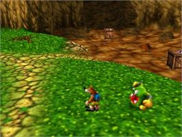 In game image of Banjo to Kazooie no Daibouken 2 on the Nintendo N64.