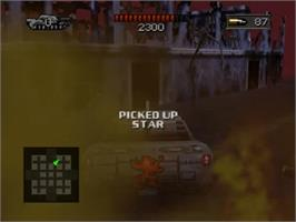 In game image of BattleTanx: Global Assault on the Nintendo N64.