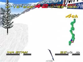 In game image of Big Mountain 2000 on the Nintendo N64.