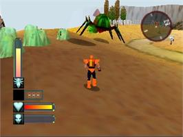 In game image of Body Harvest on the Nintendo N64.