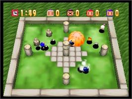In game image of Bomberman 64 on the Nintendo N64.