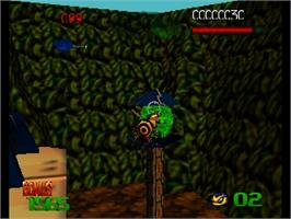 In game image of Buck Bumble on the Nintendo N64.