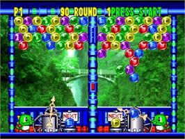 In game image of Bust a Move 3 DX on the Nintendo N64.