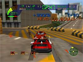 In game image of Carmageddon 64 on the Nintendo N64.
