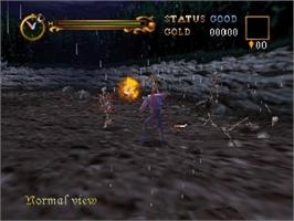 In game image of Castlevania: Legacy of Darkness on the Nintendo N64.