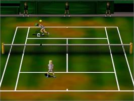 In game image of Centre Court Tennis on the Nintendo N64.