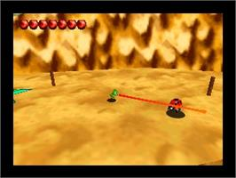 In game image of Chameleon Twist 2 on the Nintendo N64.